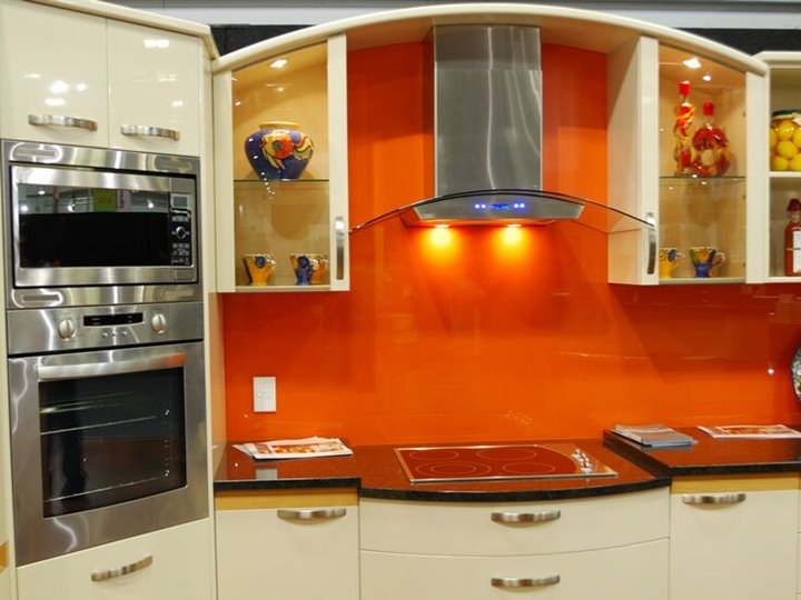 Luxury Modern Kitchen With Orange Color
