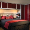 Luxury Red Wardrobe Color Design Idea
