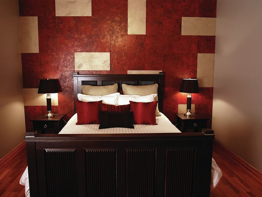 Luxury Red White Bedroom Paint Color