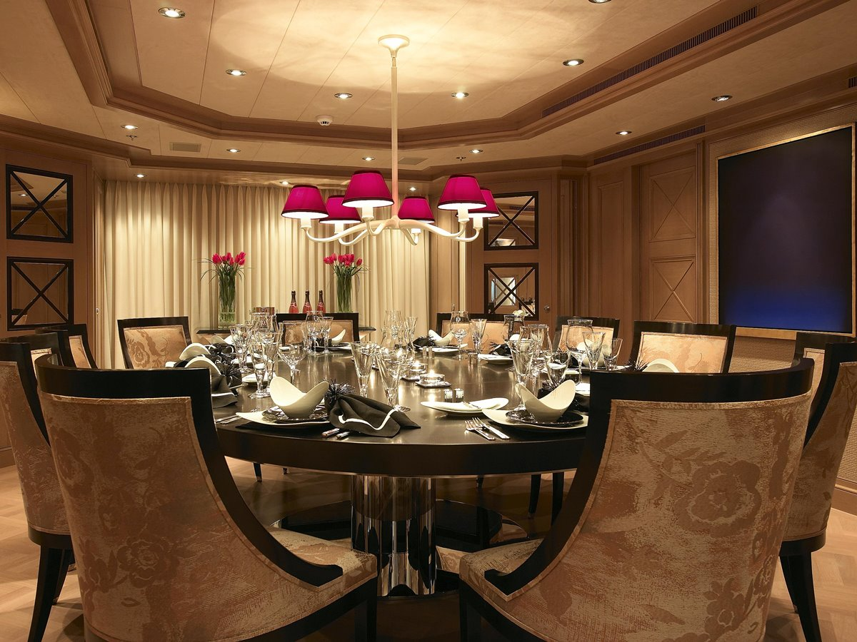 Exceptional Luxury Round Dining Table Set Idea