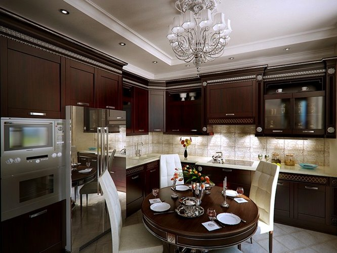 Luxury Wooden Kitchen Cabinet Design