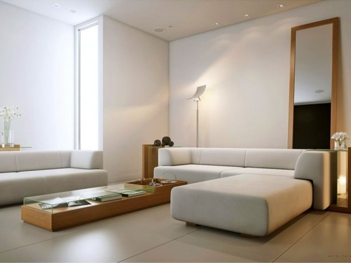 Minimalist White Living Room Sofa Design