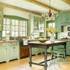 Modern Contemporary Kitchen With Green Color