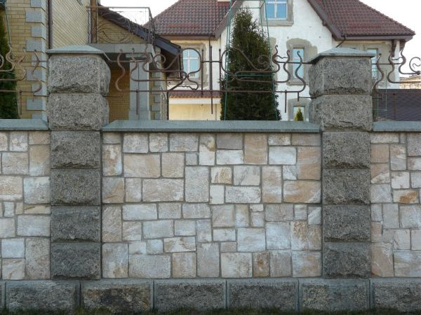 Natural Stone Fence For Luxury House