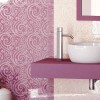 Pink Ceramic Pattern To Create Beautiful Bathroom