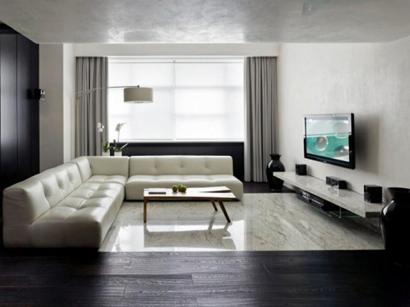 Right Color Choice For Minimalist Living Room