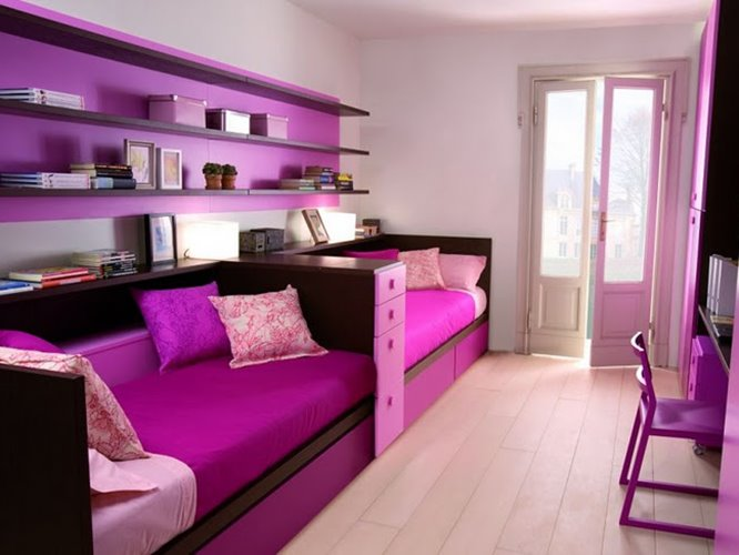 Romantic Purple Bedroom Color For Girls