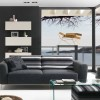 Simple Black Sofa For Minimalist Living Room