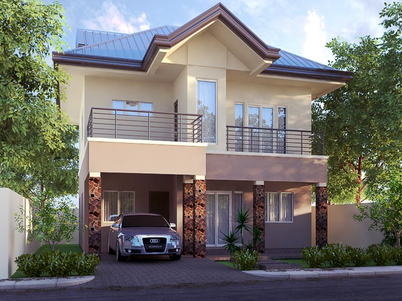 simple exterior design for 2 storey home - Simple House Design With Second Floor