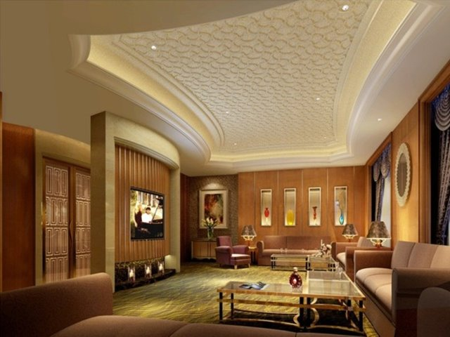 Simple Luxury Home Ceiling Design Idea