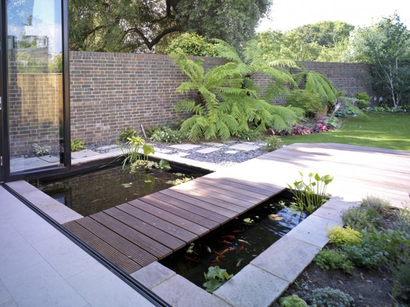 ... Simple Minimalist Small Pond Design ...