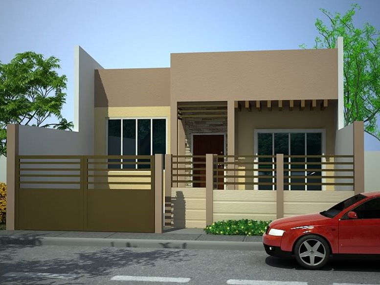 Simple modern house design consideration 4 home ideas for Minimalist house color