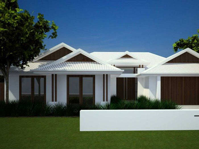 Simple modern house roof design 4 home ideas for Small house roof design pictures