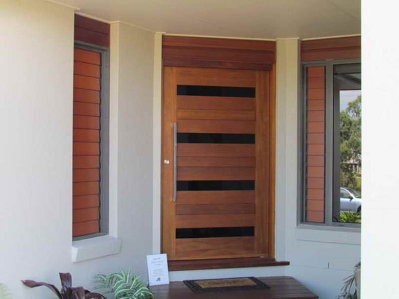 Minimalist door design for simple modern house 4 home ideas for Simple wooden front door designs