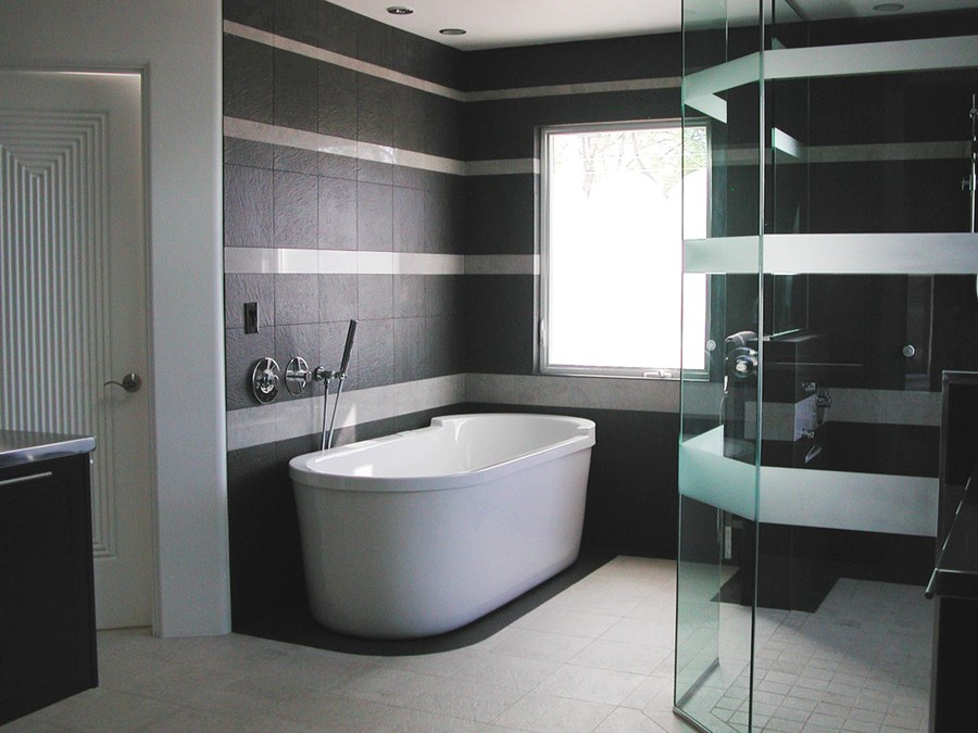 Small Black White Bathroom Color Scheme