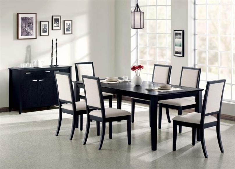 Stylish Black Table Design For Dining Room