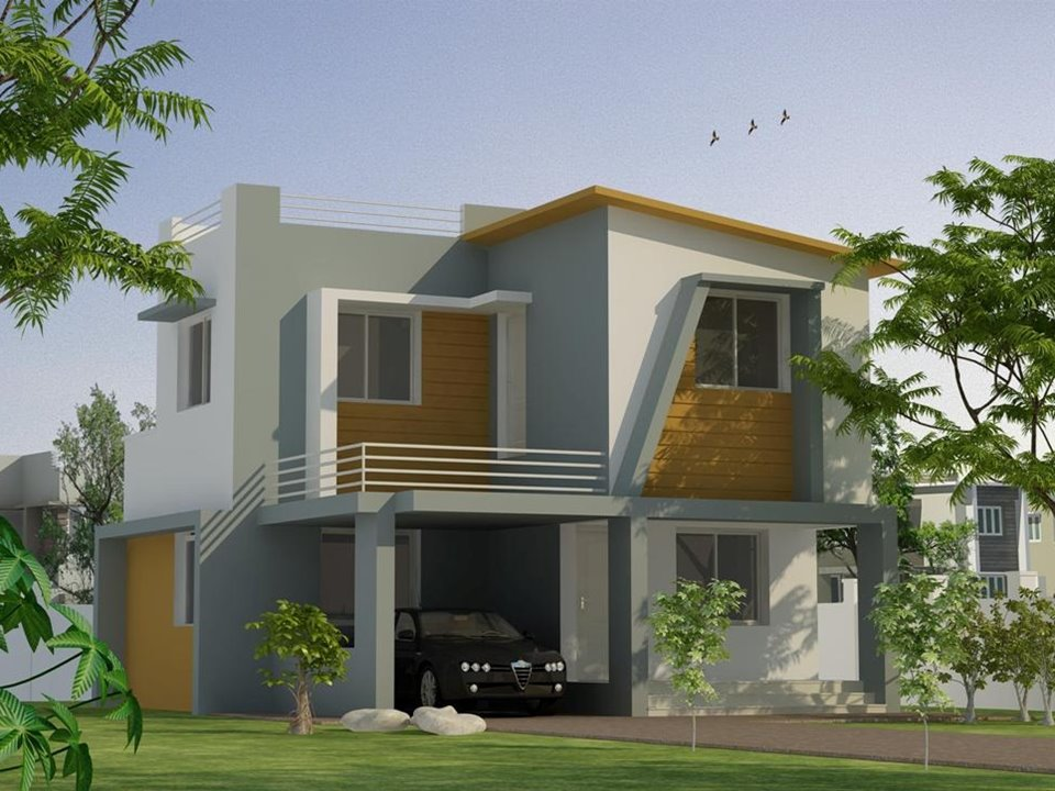 White paint for 2 storey house 4 home ideas for Tropical minimalist house design