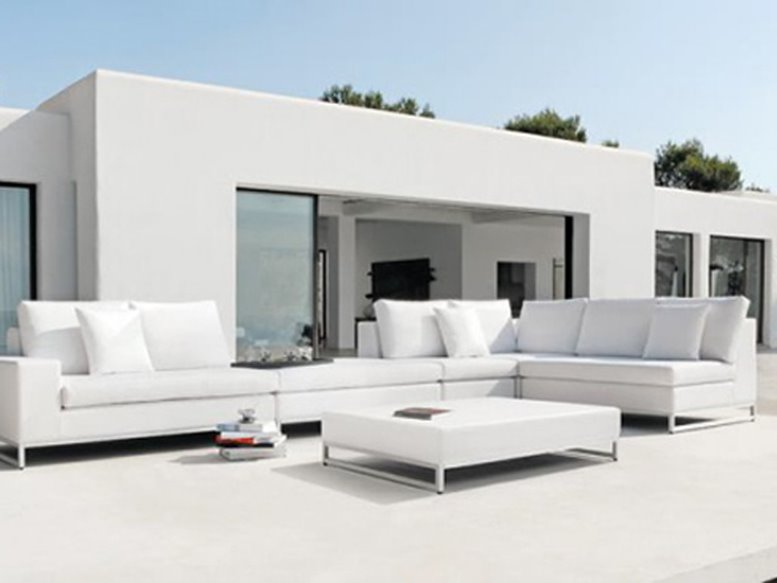 White Color Scheme For Home Patio
