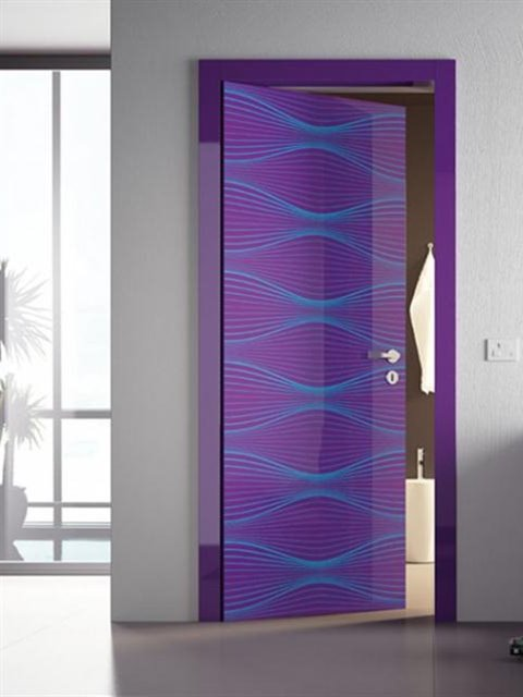 Beautiful Minimalist Purple Door Design