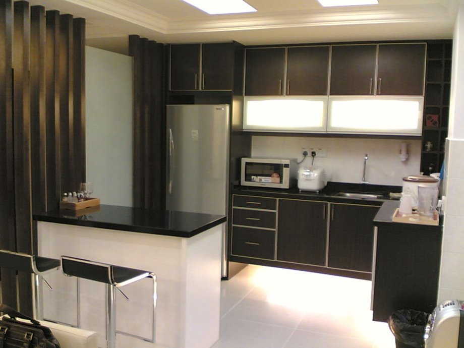 Black And White Small Kitchen Color