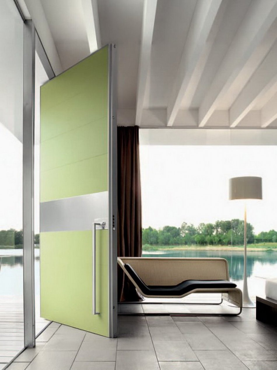 Minimalist Green Door Design Trends