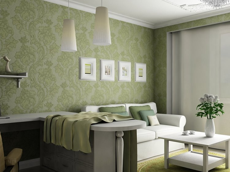 Green Wallpaper Designs For Living Room