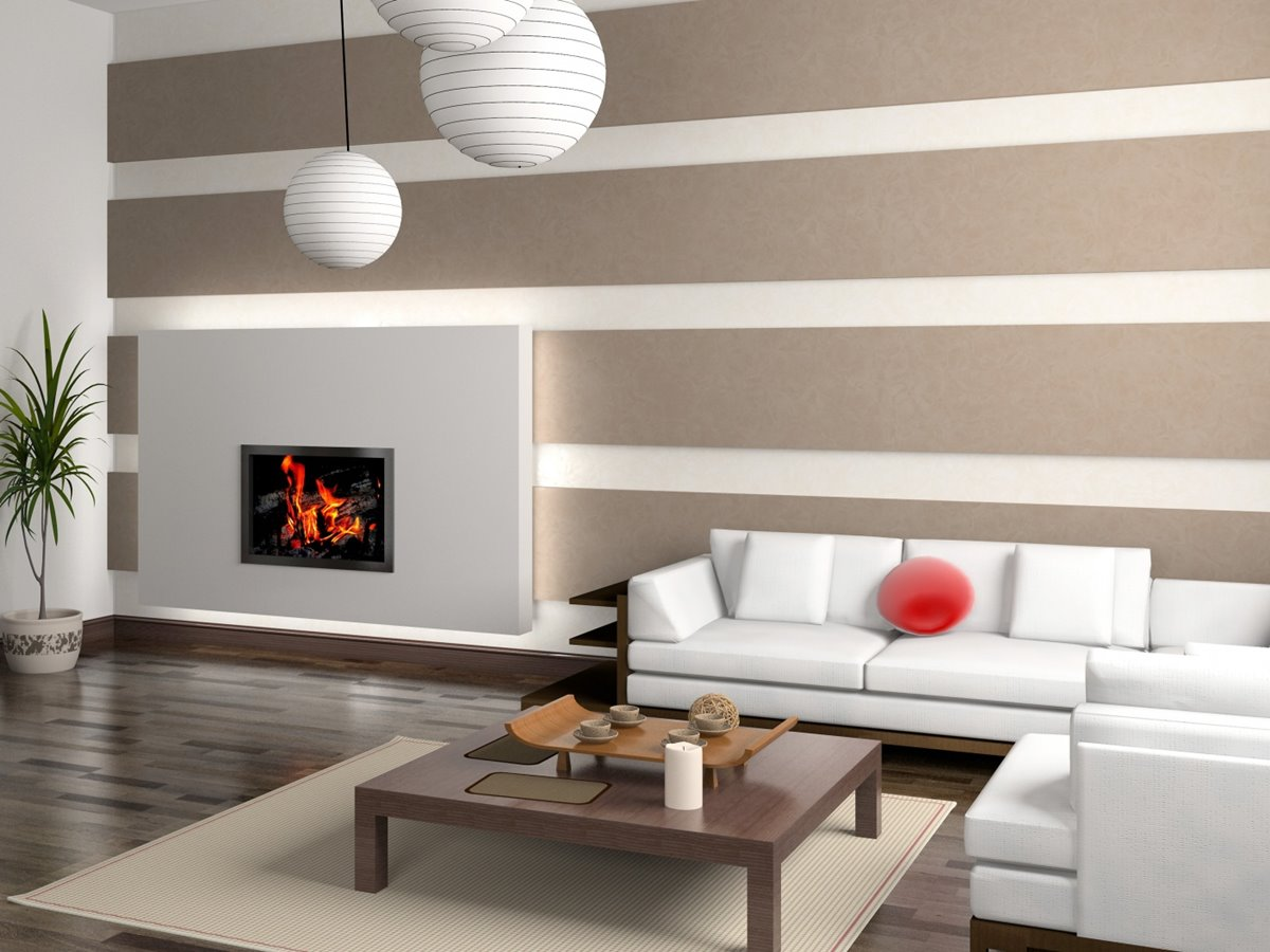 Simple Wallpaper Design For Living Room