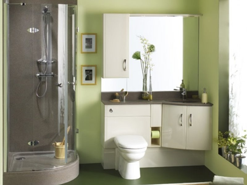 Small Modern Bathroom Color Combination Selection