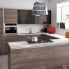 Small Modern Kitchen With Wooden Accents