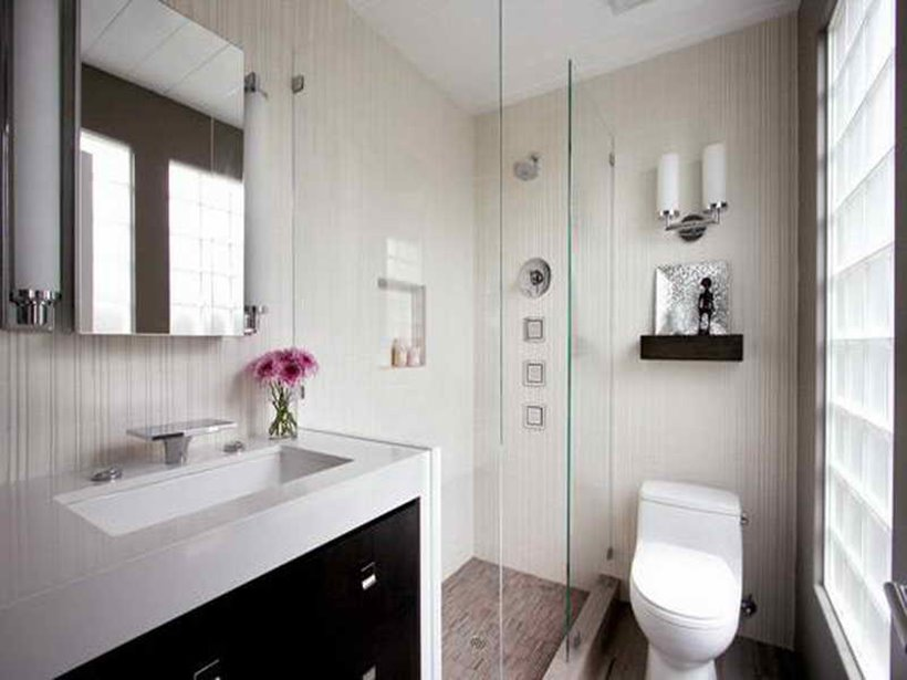Small modern bathroom design with minimalist concept 4 for How to make your bedroom look cool without spending money