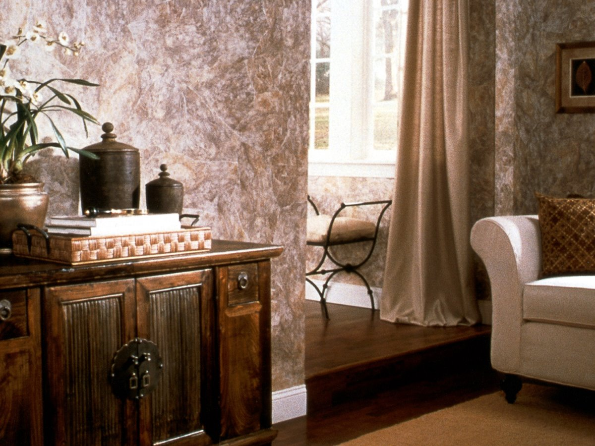 Vintage Living Room Wallpaper Design