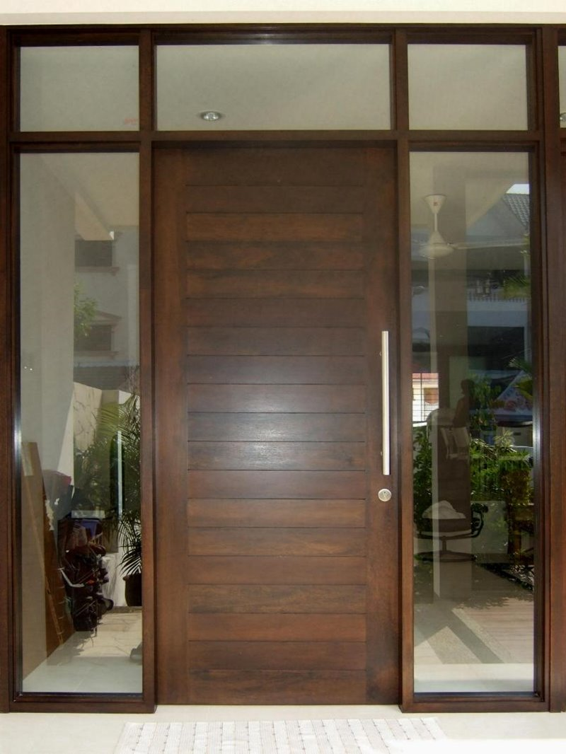 Minimalist door modern door frame design of for Wooden door ideas